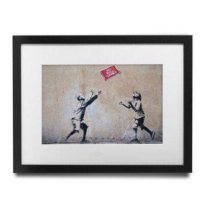 PingoWorld 'No Ball Games' by Banksy Framed Graphic Art BSY1013-30F