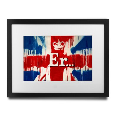 PingoWorld 'Union Jack Er' by Banksy Framed Graphic Art BSY1006-30F