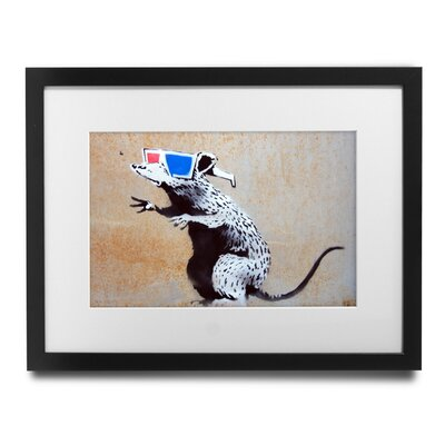 '3D Glasses Rat' by Banksy Framed Graphic Art BSY1062-2935