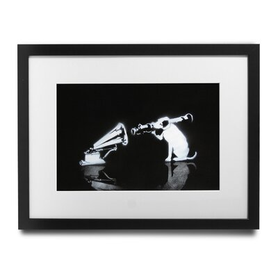 PingoWorld 'Rocket Launcher Dog' by Banksy Framed Graphic Art BSY1085-1517