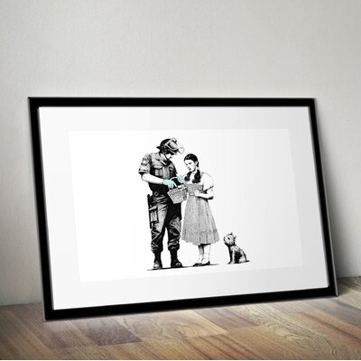 PingoWorld 'Dorothy Police Search' by Banksy Framed Graphic Art BSY1040-30F