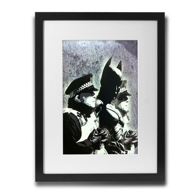 PingoWorld 'Batman Arrest' by Banksy Framed Graphic Art BSY1049-30F