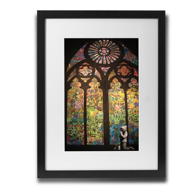 'Stained Glass Cathedral' by Banksy Framed Graphic Art BSY1047-30F