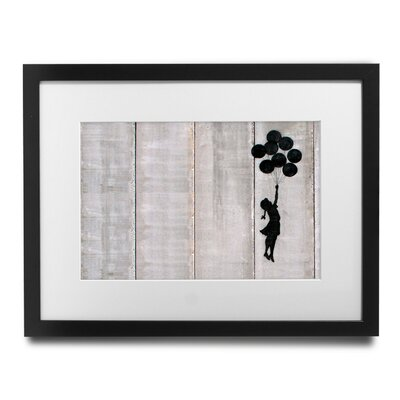 PingoWorld Fly Away by Banksy Framed Graphic Art BSY1064-1517