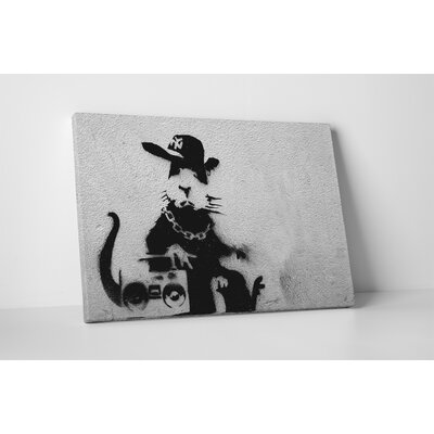 'Boom Box Rat' by Banksy Framed Graphic Art BSY1045-20