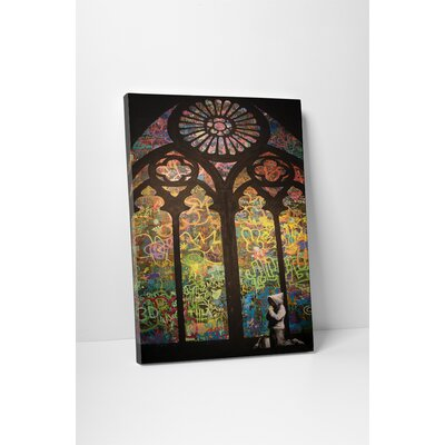'Stained Glass Cathedral' by Banksy Framed Graphic Art BSY1047-20