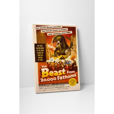 "Radio Days ""The Beast from 20,000 Fathoms"" Vintage Advertisement on Wrapped Canvas SCI01375-20"