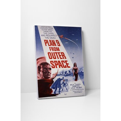 "Radio Days ""Plan 9 from Outer Space"" Vintage Advertisement on Wrapped Canvas SCI02011-20"