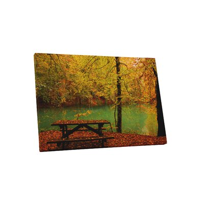 'Autumn Picnic' Photographic Print on Wrapped Canvas Size: 16