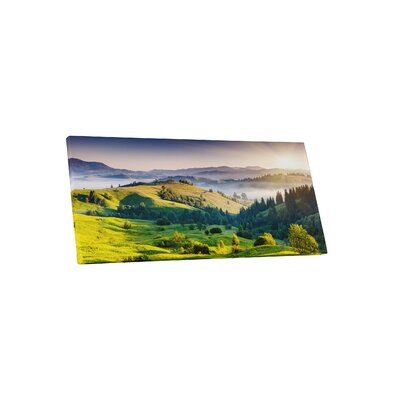 'Hills and Valleys' Photographic Print on Wrapped Canvas Size: 16