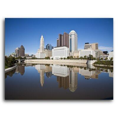 City Skylines 'Columbus Ohio' Photographic Print on Metal Size: 11