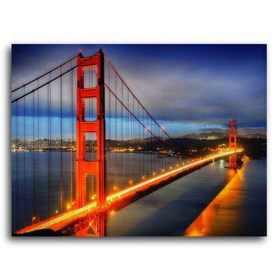City Skylines 'San Francisco Bridge' Photographic Print on Metal Size: 11