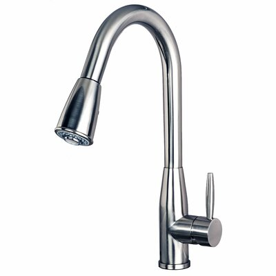Pull Down Single Handle Kitchen Faucet Finish: Stainless Steel