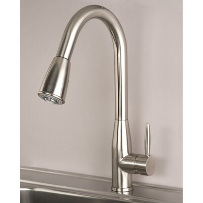 Single Handle Deck Mounted Kitchen Faucet Finish: Stainless Steel