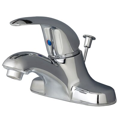 Centerset Bathroom Faucet Single Handle with Drain Assembly Finish: Chrome