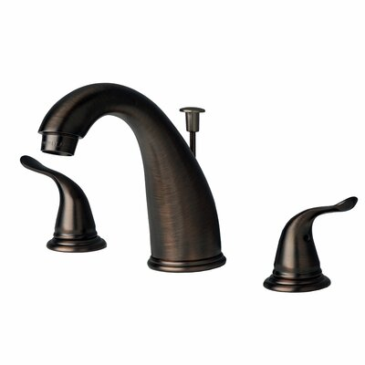 Widespread Lavatory Faucet Double Handle with Drain Assembly Finish: Brushed Bronze