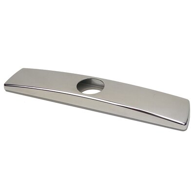 Kitchen Sink Faucet Deck Plate Finish: Chrome
