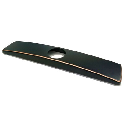 Kitchen Sink Faucet Deck Plate Finish: Oil Rubbed Bronze