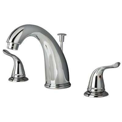 Widespread Lavatory Faucet Double Handle with Drain Assembly Finish: Chrome