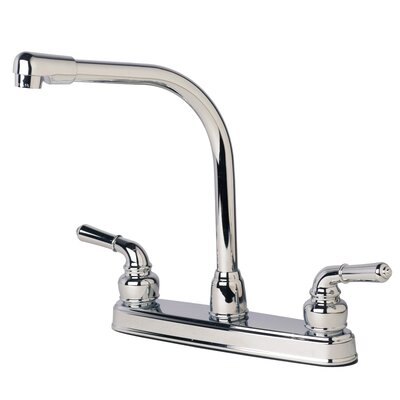RV Mobile Home Double Handle Standard Kitchen Faucet Finish: Chrome