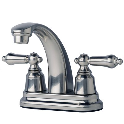 Centerset Double Handle Bathroom Faucet Finish: Brushed Nickel