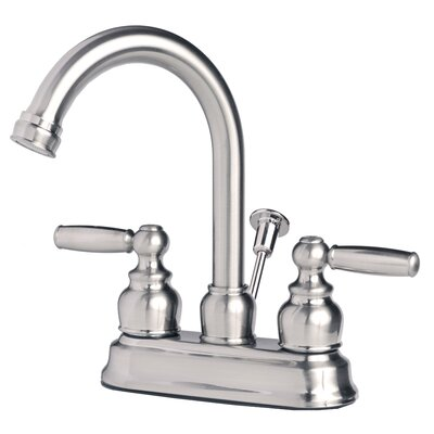 Centerset Lever Handle Bathroom Faucet with Drain Assembly Finish: Brushed Nickel