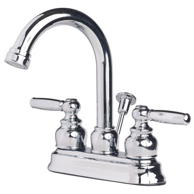 Centerset Lever Handle Bathroom Faucet with Drain Assembly Finish: Chrome