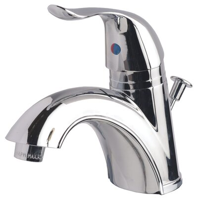 Bathroom Sink Faucet Single Handle with Drain Assembly Finish: Chrome