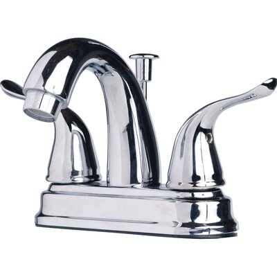 Centerset�Bathroom Sink Faucet Double Handle with Drain Assembly Finish: Chrome