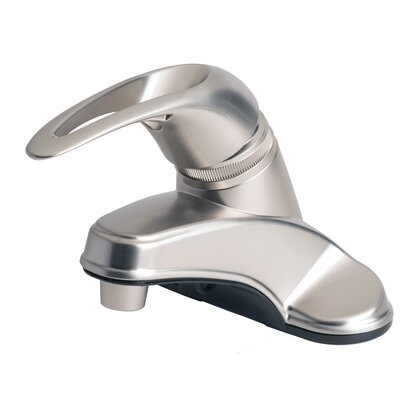 RV Mobile Home Centerset Lever Handle Bathroom Faucet Finish: Brushed Nickel