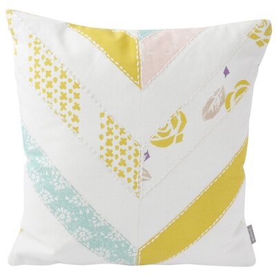 Chevron Patchwork Cotton Throw Pillow