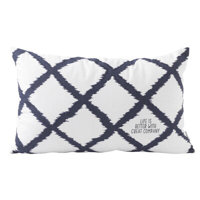 Lattice Cotton Lumbar Pillow