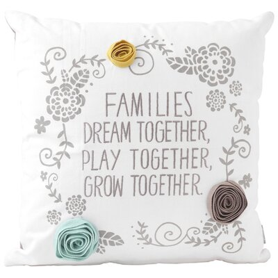 Families Cotton Throw Pillow