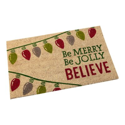 Be Merry Be Jolly Believe Doormat