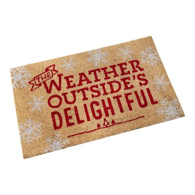 The Weather Outsides Delightful Doormat