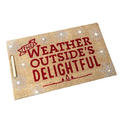 Light Up The Weather Outside's Delightful Doormat