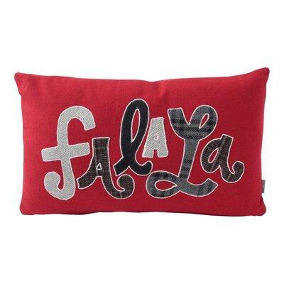 Fa La La Plaid Letters Wool Lumbar Pillow