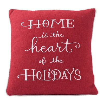 Home is the Heart of the Holidays Throw Pillow