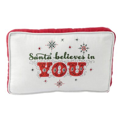 Santa Believes in You Lumbar Pillow
