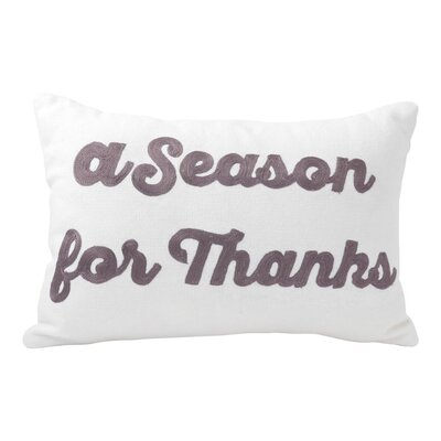 Season for Thanks 100% Cotton Lumbar Pillow