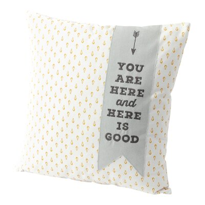 Banner 100% Cotton Throw Pillow