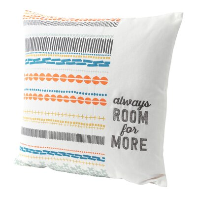 Always Room for More 100% Cotton Throw Pillow