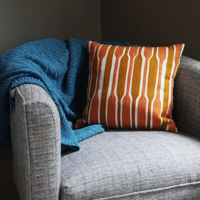 Lightweight Knit Throw Color: Teal