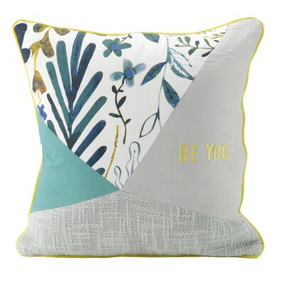 Behrends Be You Patchwork 100% Cotton Throw Pillow