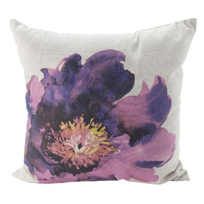 Pulcova Flower 100% Cotton Throw Pillow