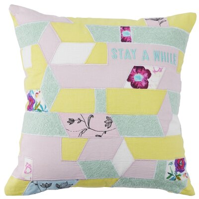 Barkingside Stay A While Geometric Pattern 100% Cotton Throw Pillow