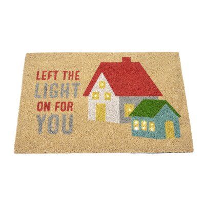 Hearthstone Left the Light On For You Step Activated Lighted Doormat