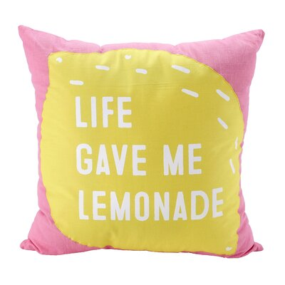 Vanwagenen Life Gave Me Lemonade Decorative Graphic 100% Cotton Throw Pillow