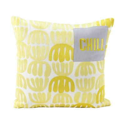 Beland Decorative Chill Two Tone Thread 100% Cotton Throw Pillow
