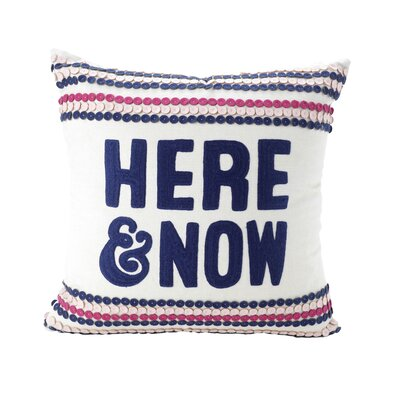 Clive Here & Now Decorative 100% Cotton Throw Pillow